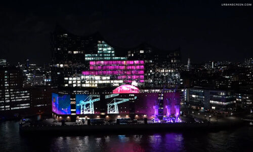 "Preview image of Illumination of the Elbphilharmonie – Telekom Launch ""X MAL MEHR"""